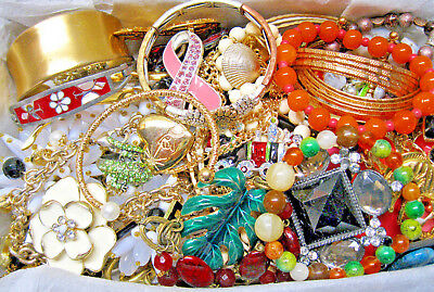 Huge Vintage Now Estate Mixed Untested Jewelry Lot