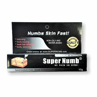 10g SUPER NUMB Strongest Numbing Cream Skin Body Piercings Waxing Laser Skin Dr