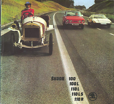 SKODA - 100/100L/110L/110LS/110R brochure/prospekt/folder Dutch 1976