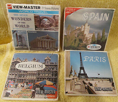 Viewmaster - Seven Wonders Of The World - 3 x Reel Set Plus 3 Others