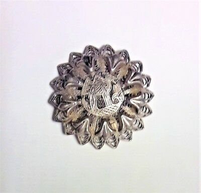Vintage Egyptian Sterling Silver Filigree Brooch Pin Jewelry