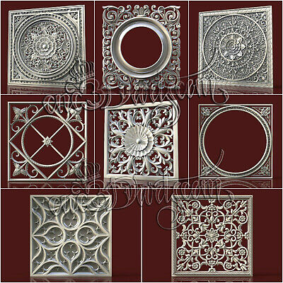 9 3D STL Models Wall Decor for CNC Router Carving Machine Relief Artcam aspire