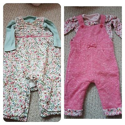 Mothercare dungaree sets 3-6 month in very good condition