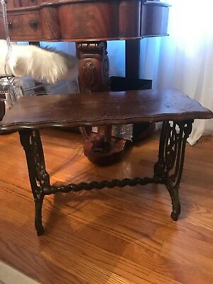 Vintage Decorative Wrought Iron Vanity Piano Bench Art Deco Style