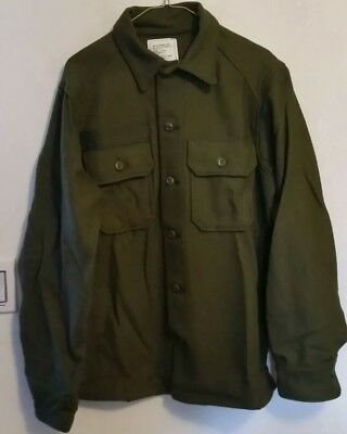 Genuine Vintage U.S. Military Wool Cold Weather Heavy Weight Shirt 70's&80's NEW