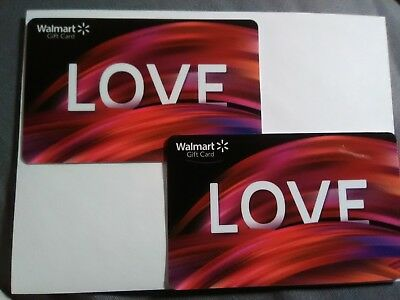 Walmart Collectible Gift Card Lot Of Two,  No Money On Cards!