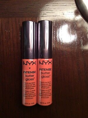 NYX Intense Butter Lip Gloss - Apple Dumpling - Lot of 2