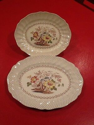 (2) Vintage English Bone China Royal Doulton Grantham Platters