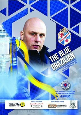 COWDENBEATH  v  RANGERS 2019 OFFICIAL PROGRAMME ( WITH COPY Of TEAM SHEET )