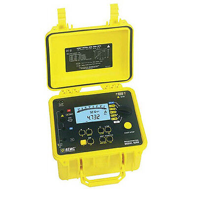 AEMC 5060 Megohmmeter (Digital, Analog Bargraph, Backlight, Alarm, Timer)
