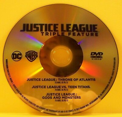 Justice League - Triple Feature - Throne of Atlantis - DISC ONLY - NO CASE - DVD