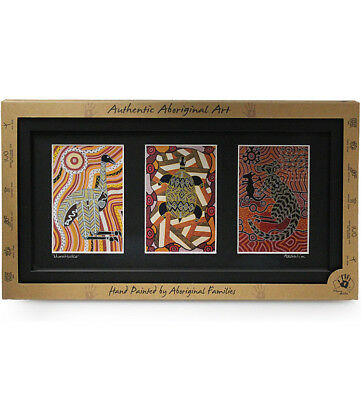 Triple Aboriginal Framed Art