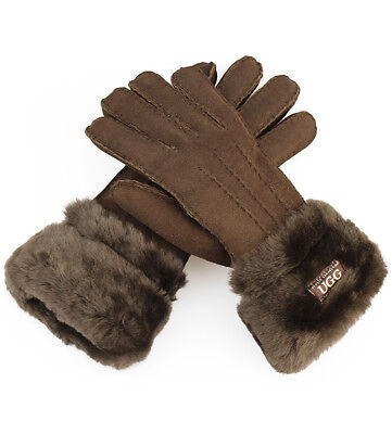 Double Cuff Chocolate Gloves