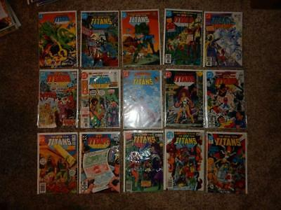 "Huge Lot Of ""the New Teen Titans"" 1984-1988 Dc Comics 90% Unread/nmnt"