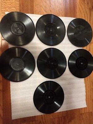 Lot of 7 Edison Diamond Disc Records Thick  lot #21