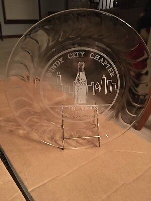 The Coca - Cola Collectors Club Windy City Chapter 1994 Clear Glass Platter