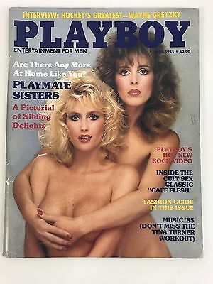 """Vtg Playboy Magazine """"april 1985"""" Are There Any More At Home/playmate Sisters"""