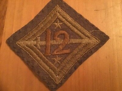 Ww1 Us Army 12Th Infantry Division (Plymouth) Patch W/rooster