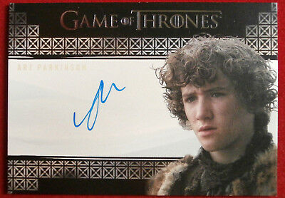 GAME OF THRONES - ART PARKINSON as Rickon Stark - AUTOGRAPH Card - 2017