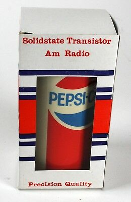 Vintage Pepsi Cola Can Shaped Am Radio In Original Box Working