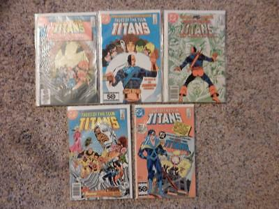 Tales Of The Teen Titans #53, #54, #55, #58, #59 Dc Comics 1985 Mnt