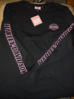 Harley-Davidson Men's Long Sleeve Pink Label Tee (size XL) NEW WITH TAGS!
