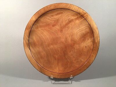 Turned Wood Plate Red Birch with Flame Figure, Signed Albert D'Antonio
