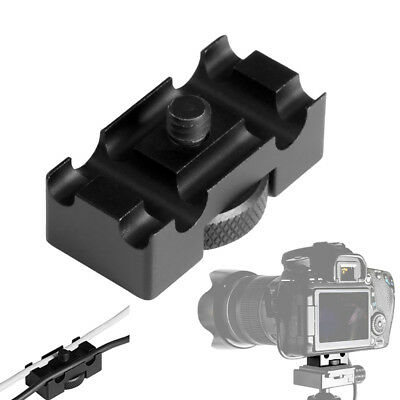 FT- Aluminum Alloy Tether Holder Cable Lock Clip Clamp Adapter for DSLR Camera N