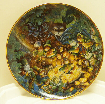 Franklin Mint Bill Bell Cat Collector Plate St Catrick's Day 8 Inches