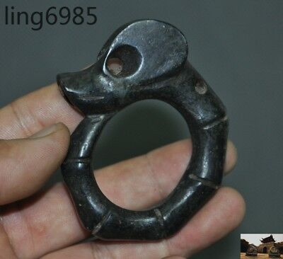 China Hongshan Culture Old jade carved Pig dragon statue Amulet periapt Pendant