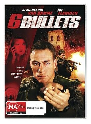 6 Bullets (DVD, 2013) // Ex-Rental // No Cover // Disc & Case only