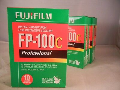 One Pack FujiFilm FP-100C  Professional Instant Film Cold Stored Exp 10/2018