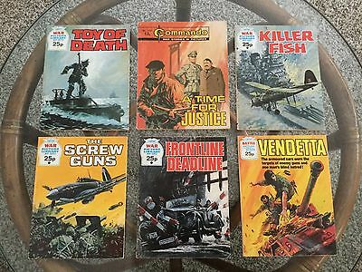 War ! Comic Digests Lot - 6 Books Total Commando & War Picture Library ! UK !