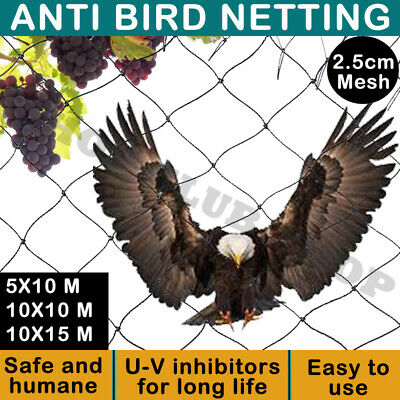 Commercial Fruit Tree Plant Knitted Anti Bird Netting Pest Net Heavy Weight AU