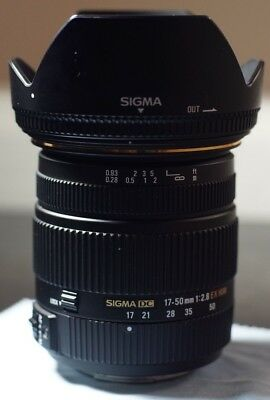 SIGMA 17-50MM F/2.8  DC EX HSM Lens for Sony Alpha (A-MOUNT)/Minolta Cameras