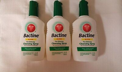 3 Bactine Pain Relieving Cleansing prevents infection Spray 5oz New Exp9&10 2018