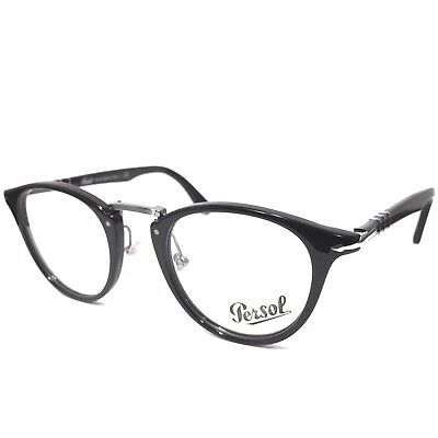 cbd6d6c309 PERSOL 3107 V 95 Black Typewriter Edition Eyeglasses Frames RX Ready (MSRP   280)