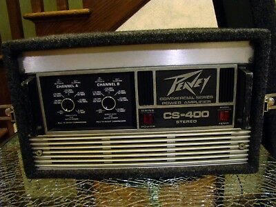 Nice Peavey CS-400 Commercial Stereo Amplifier In Road Case - Tested & Working