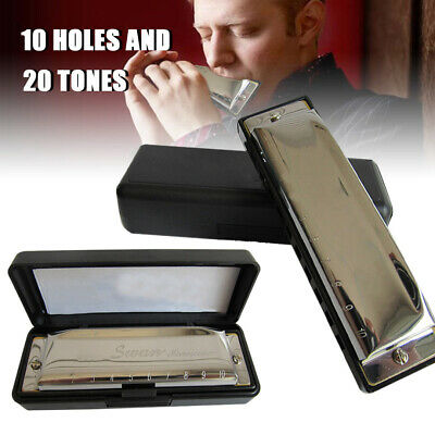 Silver Swan Harmonica 10 Hole Key of C for Blues Rock Folk Jazz Harmonica UK