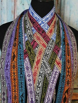 Mexican Hand Woven Ribbon Belt Hat Band 10 Color Combinations Jalieza Oaxaca