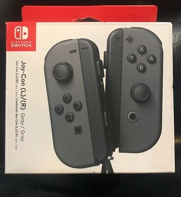 Nintendo Switch Joy‑Con L/R Wireless Controllers ‑ Gray BRAND NEW