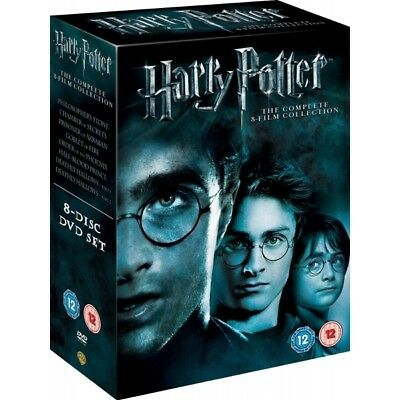 Harry Potter Complete 1-8 Movie Collection Films Box Set Fast Free Delivery