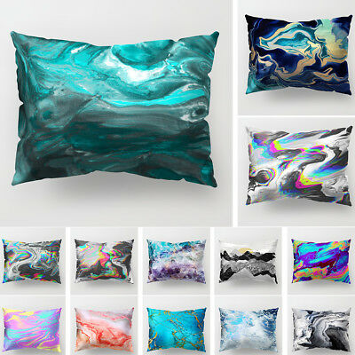 FT- Rectangle Bright Color Soft Pillow Case Sofa Home Cushion Cover Decor Reliab