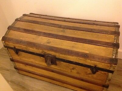 Antique Victorian Domed Sea/travel Trunk