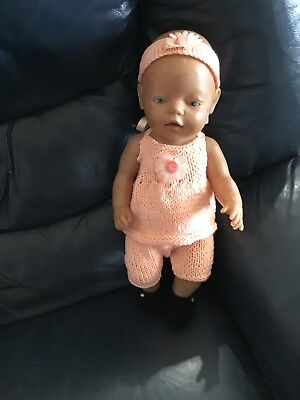 """Handmade Dolls Clothes To Fit Baby Born Or 17"""" Doll"""