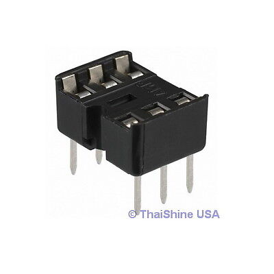 20 x 6 pin DIP IC Sockets Adaptor Solder Type Socket - USA Seller - Free Ship