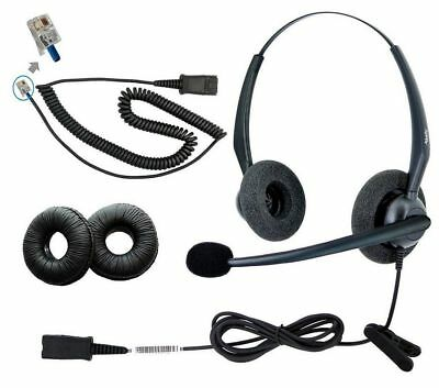 DailyHeadset RJ9 Duo Corded Noise Cancelling Microphone Phone Headset for Grands