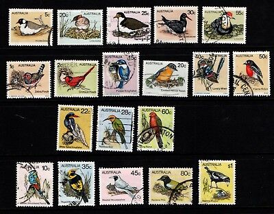 Australia 1978 1980 Birds set 19 stamps (missing 18 cent) Used
