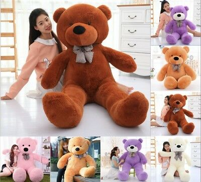 Large Teddy Bear Stuffed Soft Plush Toys Kids Birthday Gift 60/80/100/120cm