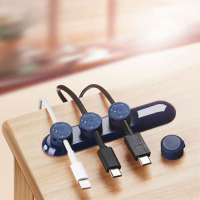Magnetic Cable Reel Organizer Cord Management Charger Desktop Clip Wire Holder